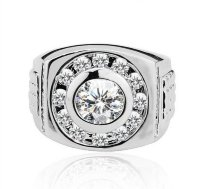 Мужское кольцо с фианитами 30113